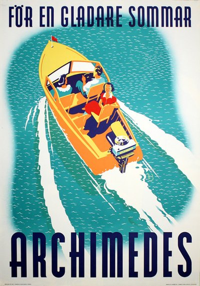 Archimedes Outboard Boat Motors poster designed by Gumaelius Annonsbyrå