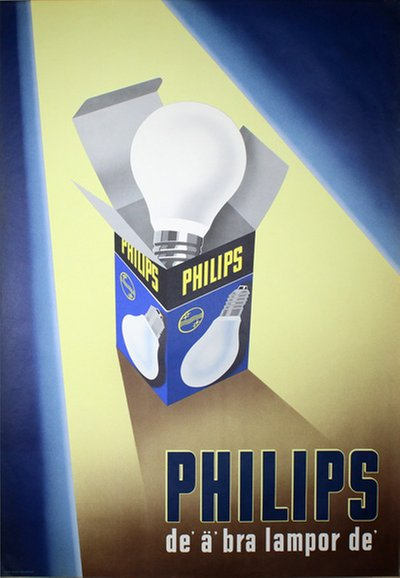 Philips Light Bulb original poster designed by Anders Beckman Reklamatelje