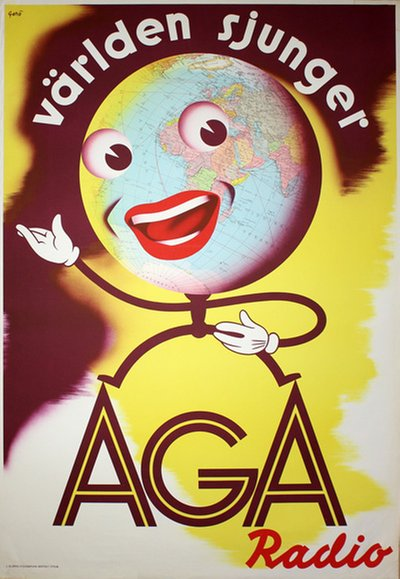 AGA Radio original poster designed by Gerö