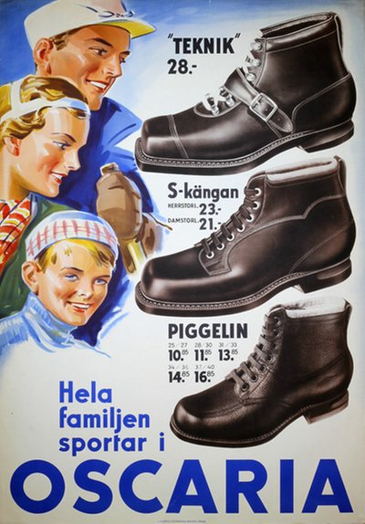 Oscaria Shoes - Ski Boots poster