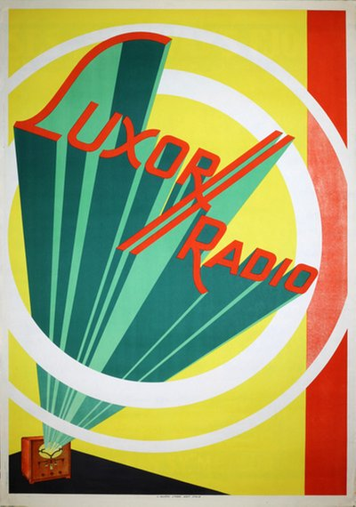 Luxor Radio original poster designed by Rohman, Eric (1891-1949)
