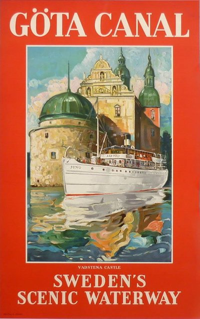Gota Canal - Sweden's Scenic Waterway original poster designed by Hjalmar Thoresson (1893-1943)