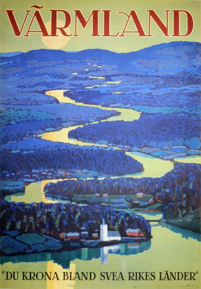 original vintage poster  v u00e4rmland for sale at posterteam com
