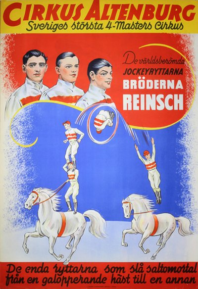 Cirkus Altenburg - Reinsch Brothers Jockey Act original poster