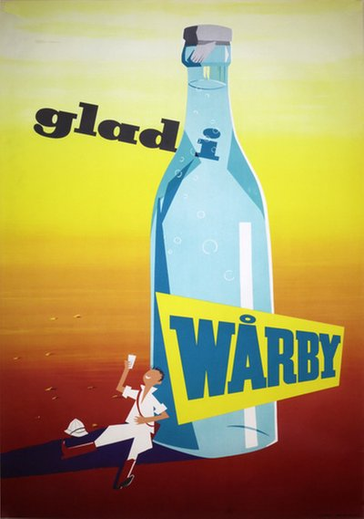 Wårby mineral water original poster