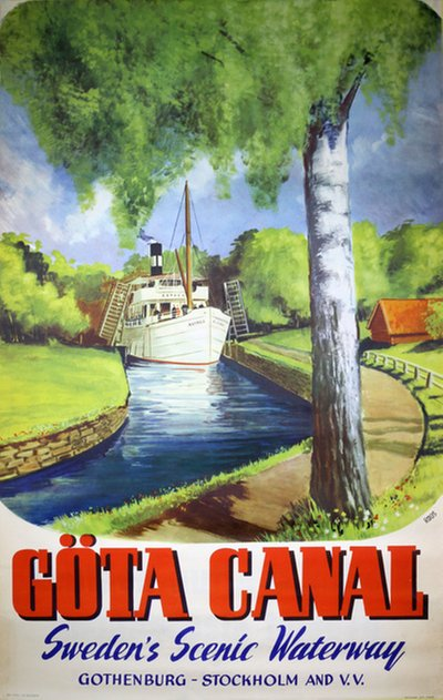 Gota Kanal original poster designed by Roos