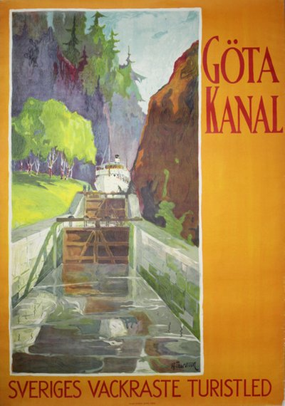 Gota Kanal poster designed by Thoresson, Hjalmar (1893-1943)
