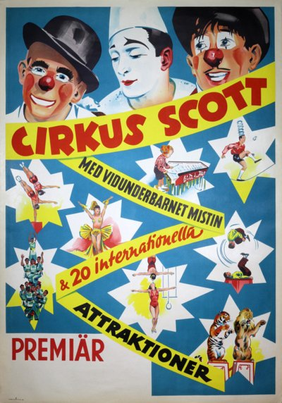 Cirkus Scott 1952 - Mr. Mistin original poster