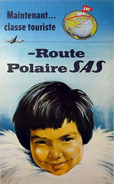 SAS - Polar Route poster designed by T. Mandel