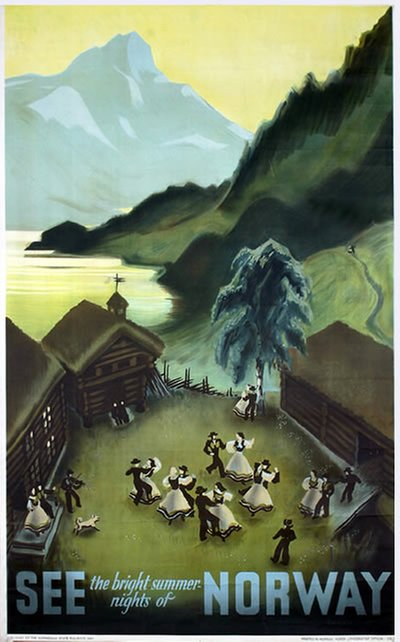 See Norway original poster designed by Damsleth, Harald (1906-1971)