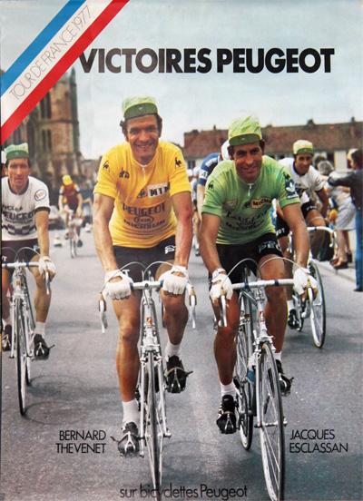 original vintage poster  victoires peugeot
