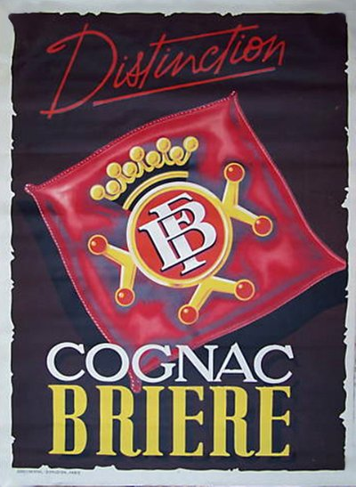 Cognac Briere original poster designed by P. Chaignon