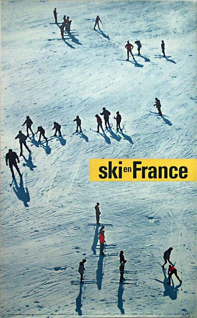 Ski en France original poster designed by Photo: Leblanc