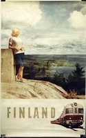Finland travel/train poster