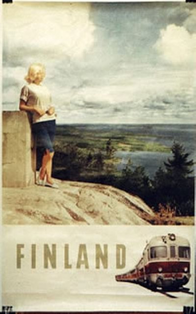 Finland Travel/Train original poster
