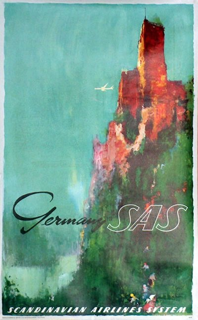 SAS - Germany original poster designed by Nielsen, Otto (1916-2000)