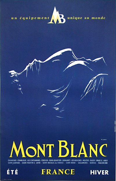 Mont Blanc original poster designed by Y. Laty