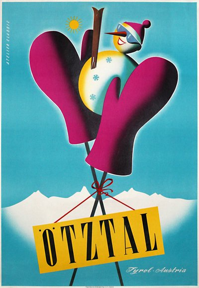Ötztal Tyrol - Winter  original poster designed by Atelier Classic