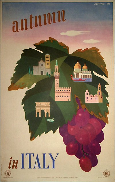 Autumn in Italy poster designed by Previtali 950