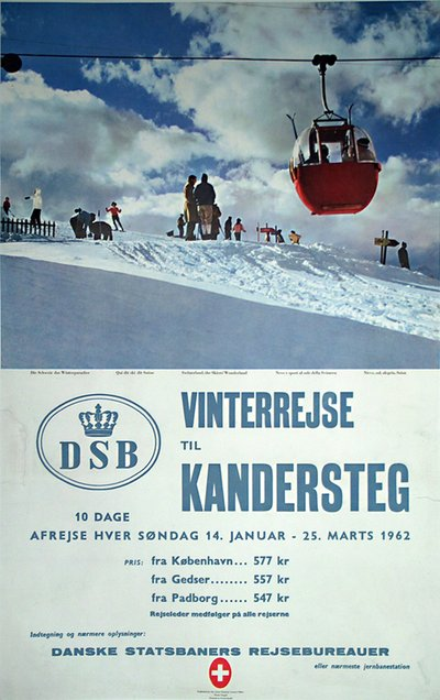 Kandersteg original poster designed by Photo: Giegel