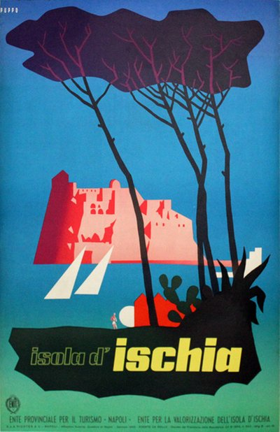 Italy - Isola d'Ischia poster designed by Mario Puppo (1905-1977)