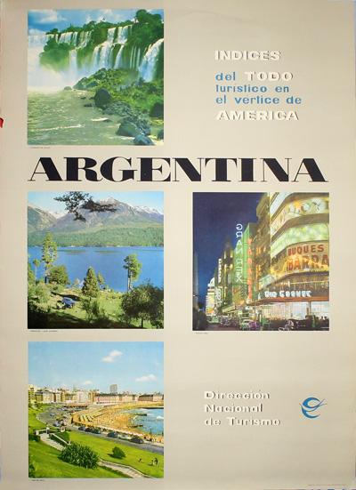 original vintage poster  argentina travel poster for sale