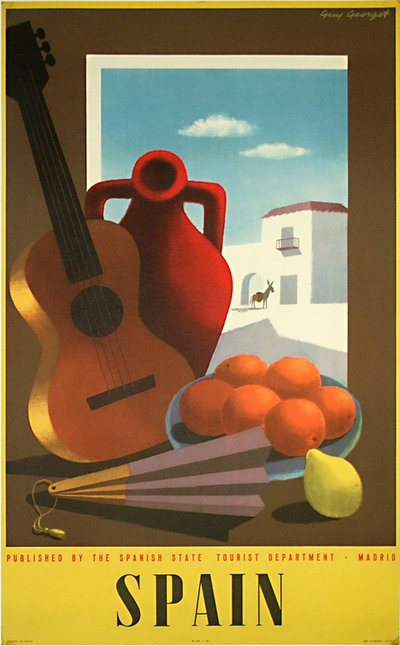 Spain poster designed by Guy Georget
