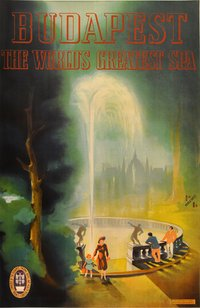 Budapest worlds Greatest Spa vintage poster