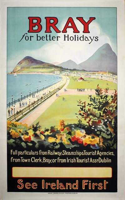 Bray for better Holidays See Ireland first original poster