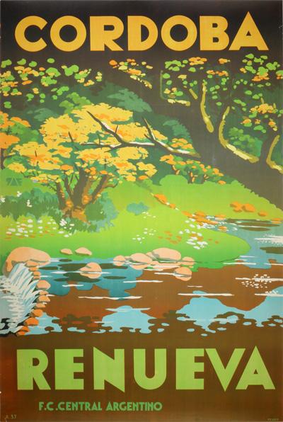 original vintage poster  c u00f3rdoba argentina for sale at