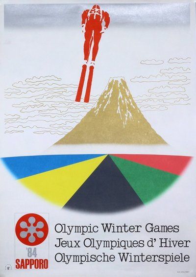 Sapporo 1984 Olympic Candidate City original poster designed by Kuriyagawa