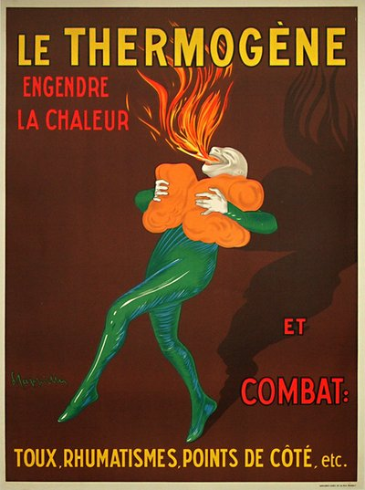 Thermogene original poster designed by Leonetto Cappiello