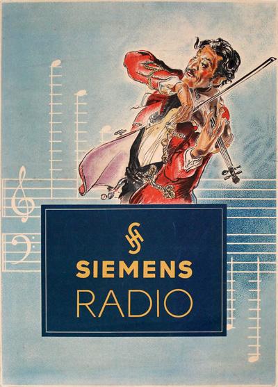 original vintage poster  siemens radio for sale at