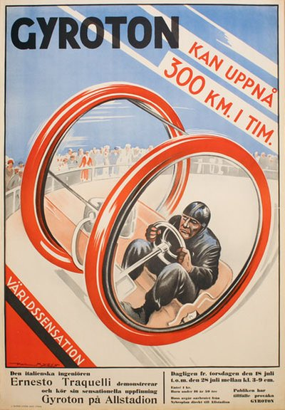 Gyroton poster designed by Myrén, Paul (1885-1951)