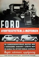 Ford Motors Vintage Poster (Sweden)