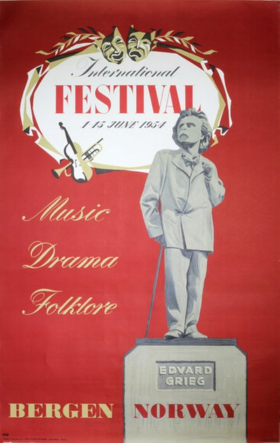Bergen International Festival - Norway original poster