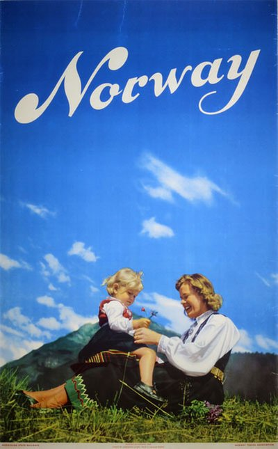 Norway - 1948 original poster