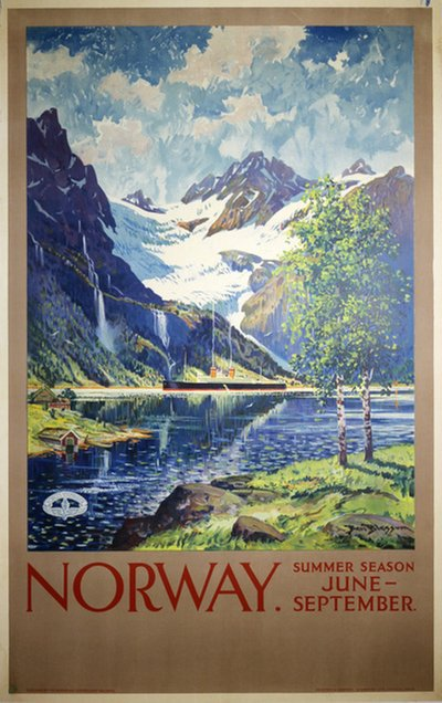 Norway - Summer Season original poster designed by Blessum, Benjamin (Ben) (1877-1954)