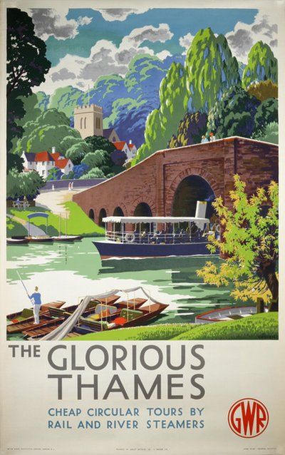 The Glorious Thames GWR London original poster designed by Cusden, Leonard (1898-1979)