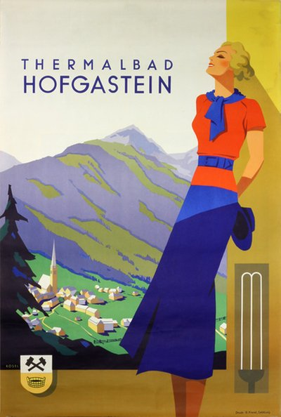 Thermalbad Hofgastein original poster designed by Kosel, Hermann (1896-1983)