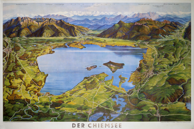 Germany - Der Chiemsee original poster designed by Ruep, Joseph (1886-1940)
