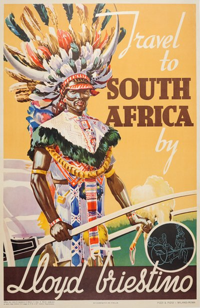 South Africa by Lloyd Triestino original poster