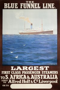 The-Blue-Funnel-Line-South-Africa-Australia-ocean-liner-poster