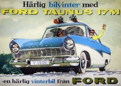 Original vintage poster: Ford Taunus 17M