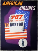 American Airlines Boston 707 Jet Flagships