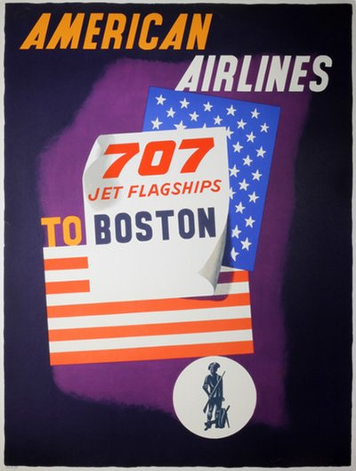 American Airlines 707 Jet Flagships to Boston McKnight Kauffer, Edward (1890-1954)
