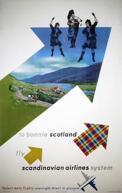 SAS - To Bonnie Scotland poster designed by Magnusson, Ib