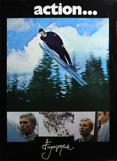 Ingolf Mork Ski Jumper Norway original poster