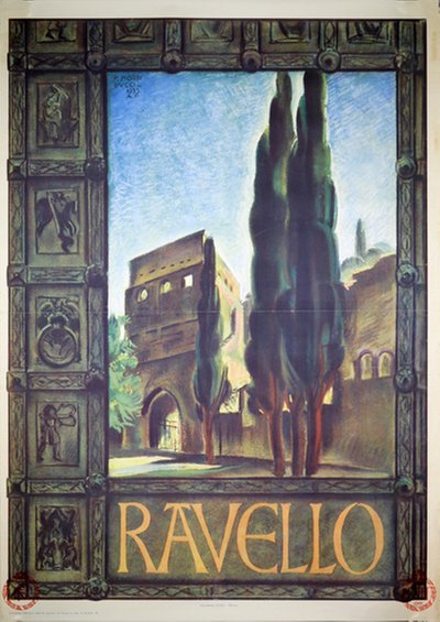 Ravello - Italiy original poster designed by Morbiducco, Publio (1889-1963)