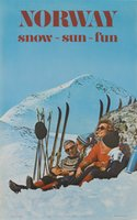 Norway ski poster Snow Sun Fun 1970